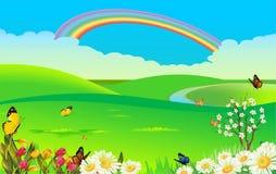 春天横向 库存图片