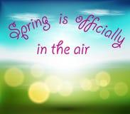 春天正式地在天空中 库存照片