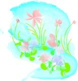 春天水彩 库存图片