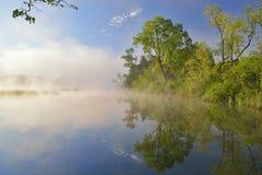 春天海岸线Whitford湖 免版税库存照片