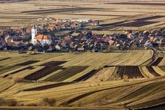 春天的村庄 库存照片