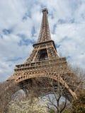 春天的,巴黎,法国艾菲尔铁塔 库存照片