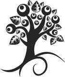 春天纹身花刺结构树 库存例证
