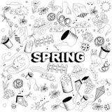 春天线艺术设计传染媒介例证 免版税图库摄影