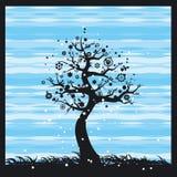 春天结构树向量 免版税库存图片