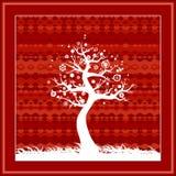 春天结构树向量 免版税图库摄影