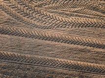 春天耕地 领域和美好的样式从拖拉机 在视图之上 n 图库摄影