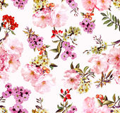 春天花和分支的样式 库存照片