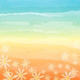 春天花在蓝色桃子背景中 免版税图库摄影