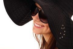 春天青少年的女孩快乐在巴拿马 免版税库存图片