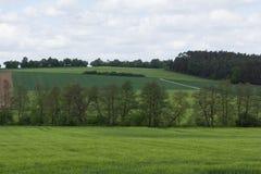 春天风景在巴伐利亚 免版税库存图片