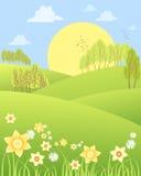 春天风景 库存照片