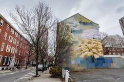 春天-墙壁上的艺术-费城, PA 免版税库存图片