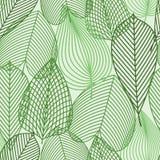 春天绿色留下无缝的样式 免版税图库摄影