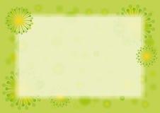 春天绿色边界 免版税图库摄影