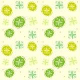春天绿色 提取花卉模式 无缝的背景传染媒介例证 免版税图库摄影