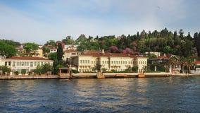 春天Bosphorus海岸 免版税图库摄影