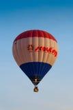 春武里市,泰国- 2009年12月12日:侦察的气球飞行 库存照片