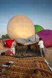 春武里市,泰国- 2009年12月12日:热空气气球冷的inf 免版税库存图片