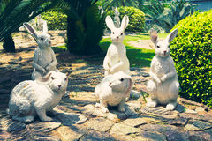 春武里市,泰国- 2016年3月18日:美丽的庭院装饰 库存照片