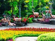春武里市,泰国- 2016年3月18日:美丽的庭院装饰 库存图片