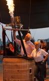 春武里市,泰国- 2009年12月12日:试验热气球b 库存照片