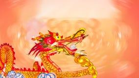 春节与灯笼的龙 免版税库存照片