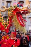 春节游行在米兰 库存图片