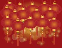 春节灯笼背景 皇族释放例证