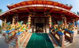 春节的庆祝在寺庙萨潘Hin的 免版税库存照片