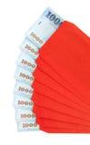 春节红色信包 库存图片