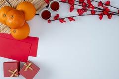 春节节日装饰愉快的春节辅助部件汉语 库存照片