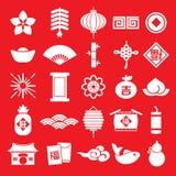 春节象无缝的样式元素传染媒介背景中国翻译:愉快的春节 库存照片