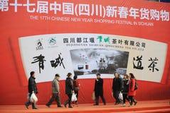 春节购物节日在四川 免版税库存照片