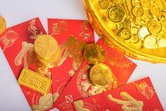 春节,金币 图库摄影