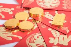 春节,金币 免版税库存图片