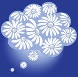 春黄菊天堂 在云彩的梦想 浪漫标志 免版税库存照片