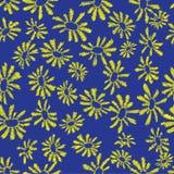 春黄菊无缝的样式 免版税库存图片