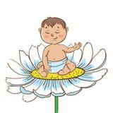 春黄菊的小男婴 皇族释放例证