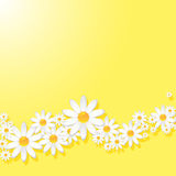 春黄菊背景 皇族释放例证