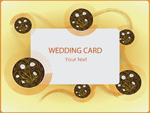 春黄菊 抽象看板卡例证婚礼 愉快的假日海报设计 库存照片