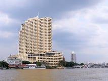昭拍耶河视图是一个地标在曼谷 免版税库存图片