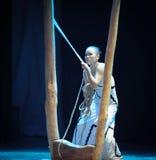 是一定妇女差事入迷宫现代舞蹈舞蹈动作设计者玛莎・葛兰姆 图库摄影