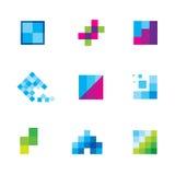 是与几何企业成为原动力的商标象的创造性的艺术 免版税库存照片