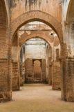 是世界遗产在拉巴特Chellah的内部  免版税库存图片
