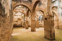 是世界遗产在拉巴特Chellah的内部  库存照片