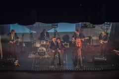 是五十年前今天Beatles - 1963年- 1970年 图库摄影