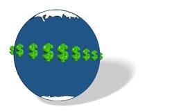 是做货币来回世界 免版税图库摄影