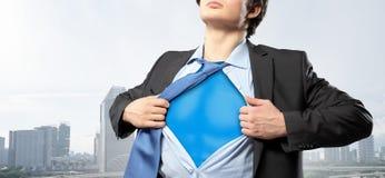 他是公司的英雄 免版税库存图片