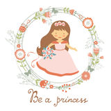 是公主逗人喜爱的卡片 库存照片
